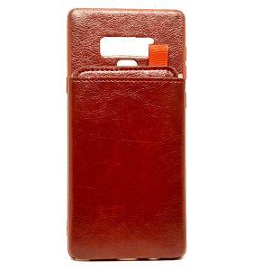 كفرات خلفية جلدية مع محفظة Wallet لهاتف جالكسي نوت 9-برتقالي