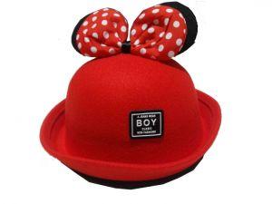 قبعة بناتي منوع -احمر درزن (12 قطعة)