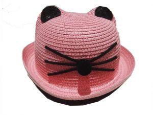 قبعة بناتي منوع -وردي درزن (12 قطعة)