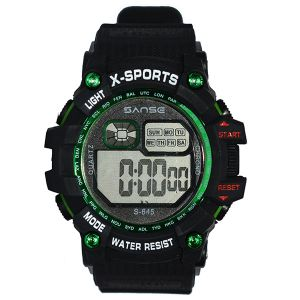 ساعة يد رقمية رياضية -اسود -بالدرزن