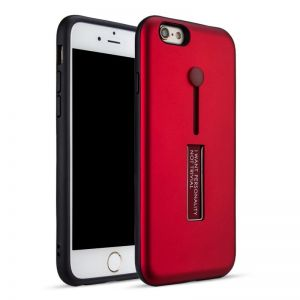 كفر ايفون 6 بلس مع مسكة مدمجة و ستاند احمر