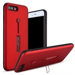 كفر ايفون 6 مع مسكة مدمجة و ستاند لون احمر