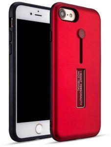 كفرفاشون ايفون 7 مع مسكة مدمجة و ستاند لون احمر