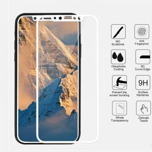 حامي شاشة 5 دي كامل الشاشة متوافق مع اجهزة ايفون - ابيض