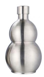 قارورة زيت استانليس ستيل كيرفي فضي سعة 0.5 لتر ، SNC-0216-0.5L
